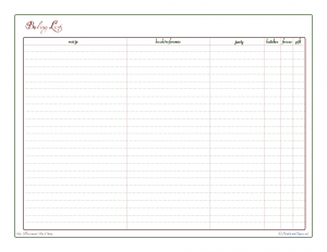 free printable, baking list, baking planner, holiday planner, recipe reference