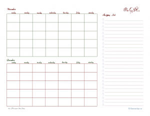 free printable, baking list, baking planner, shopping list, holiday planner