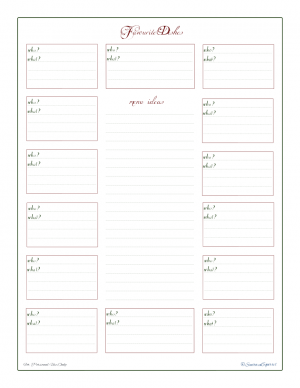 free printable, holiday planner, menu ideas, potluck planner