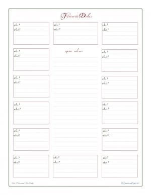 free printable, holiday planner, menu ideas, potluck planner