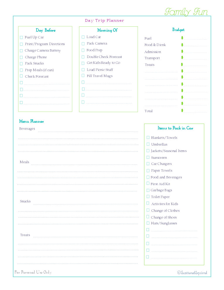 free printable, home management binder, famliy section, check list