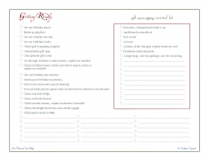 free printable, checklist, holiday planner, to do list,