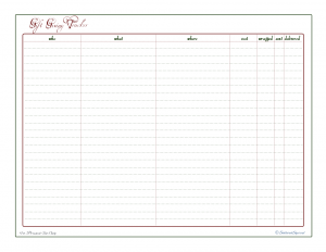 free printable, holiday planner, gift giving check list