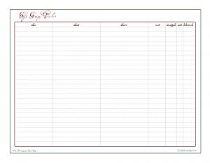 free printable, holiday planner, gift giving check list