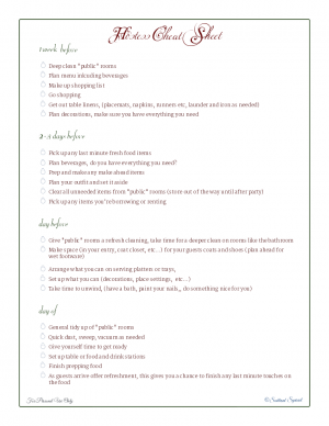 free printable, holiday planner, checklist, to do list, party preparations