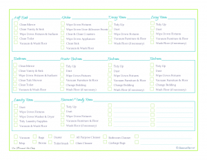 free printable cleaning schedule cleaning checklist home managment binder room by room