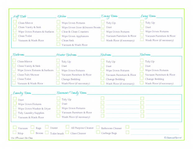 free printable, cleaning schedule, cleaning checklist, home managment binder