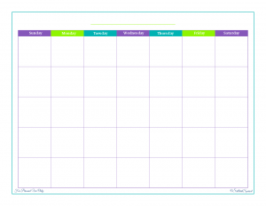 free printable, time management, monthly calendar, blank