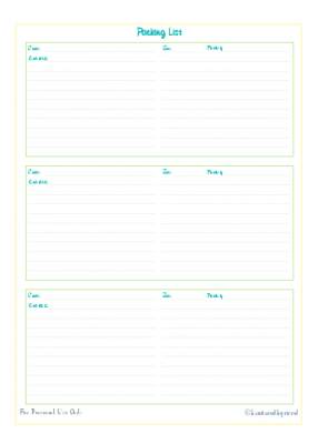 free printable, move planner, packing list organizing, planner