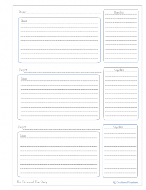 free printable, project planning, organizing, planner, move planner
