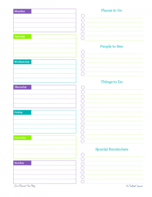 free printable time management weekly planner to do list agenda