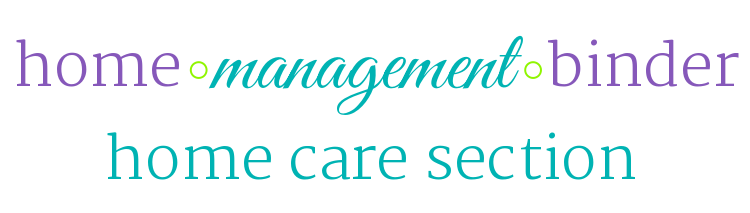 Home Management section, home care, cleaning and home maintenance printables