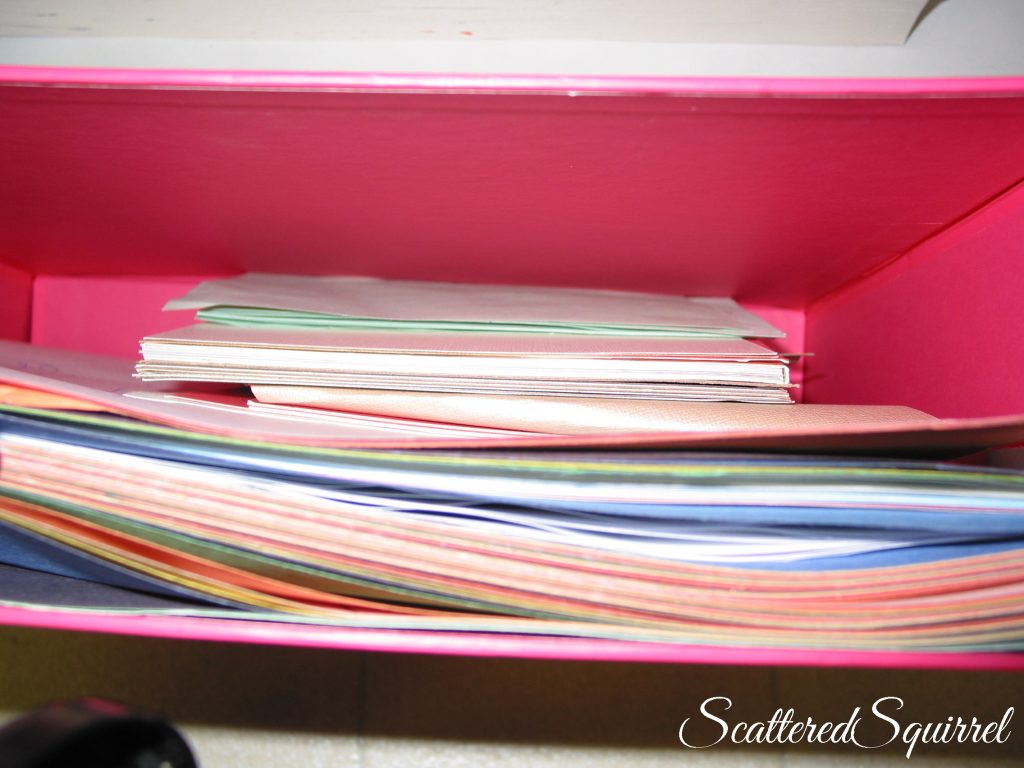 file box turned craft paper storage