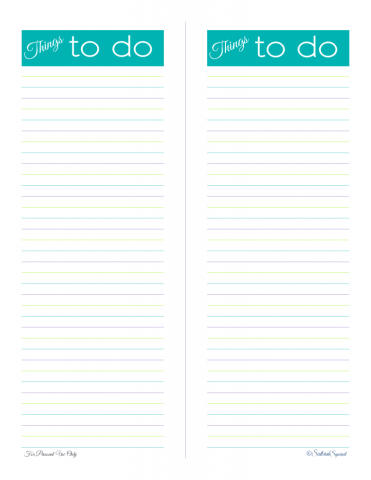 free printable, to do list