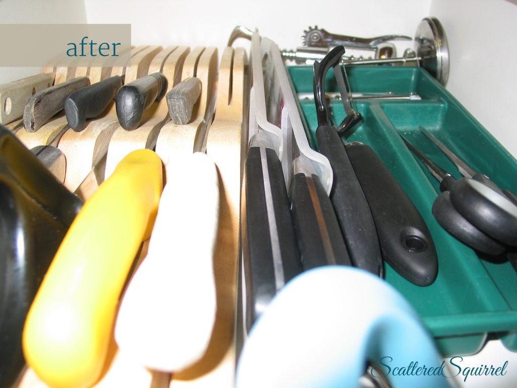 utensil drawer after