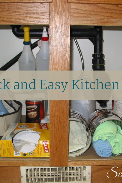 Two quick and easy organizing projects for the kitchen, from Scattered Squirrel