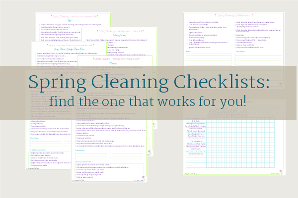 free printable spring cleaning checklist for the brave, the busy and those of us in the middle, from Scattered Squirrel