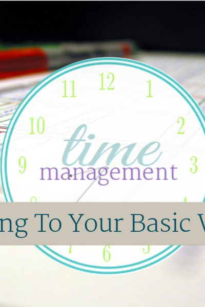 The next step in the time management series, is to starting adding things to you basic week. From ScatteredSquirrel.com