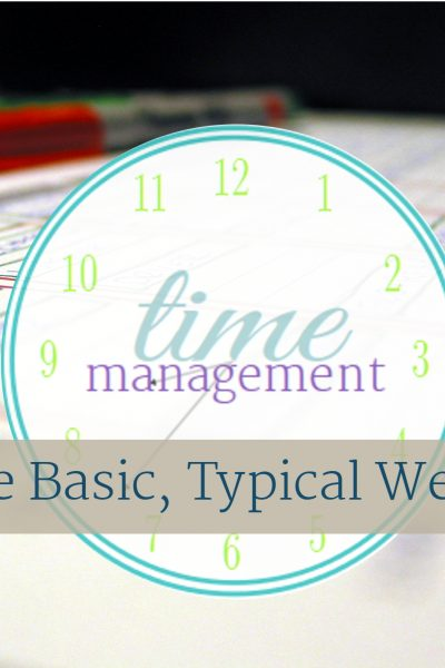 The next step in my time management series is to create a visual of your basic, typical week. From ScatteredSquirrel.com
