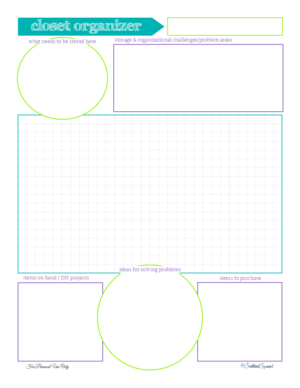 Free Closet Organizing Planner Printable from ScatteredSquirrel.com