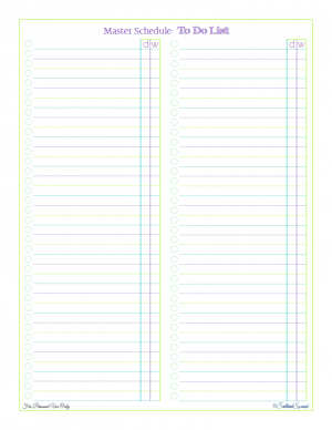 Free printable Master Schedule: To Do LIst, to help you start figuring out what you need to fit into your schedule, from ScatteredSquirrel.com