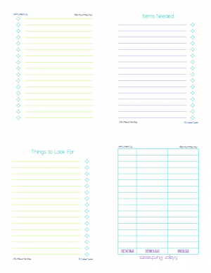 Free Printable list page for GarageSale/Home Items mini notebook | ScatteredSquirrel.com