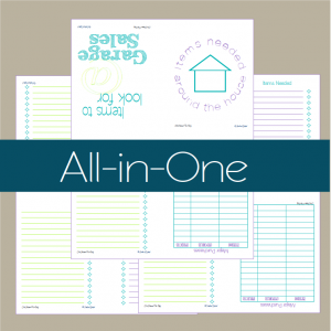 All three free printables to create your own dual mini notebook | ScatteredSquirrel.com