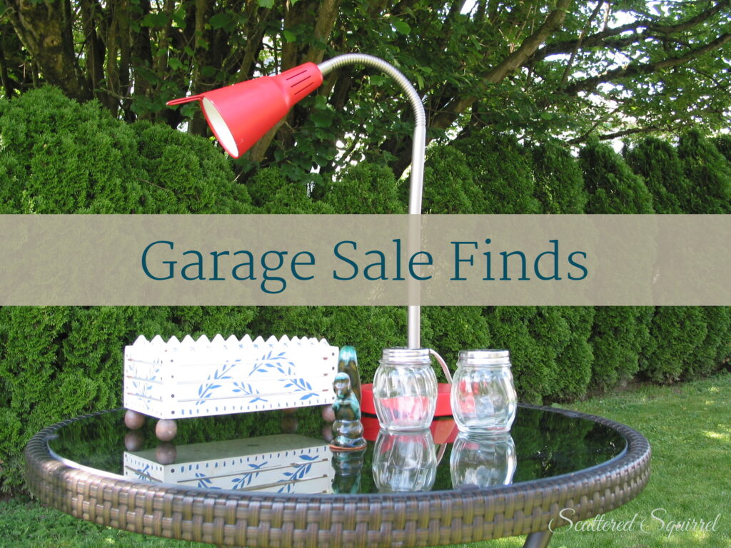 Garage Sale Finds and a Printable Project | ScatteredSquirrel.com