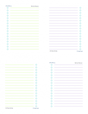 Free printable plain lists page for GarageSale/Home Items mini notebook | ScatteredSquirrel.com