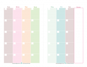Free printable blank calendar, one month spread over two pages ...