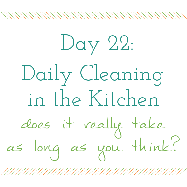 Day 22 of 31 days to a Clean and Organized Kitchen: ScatteredSquirrel.com