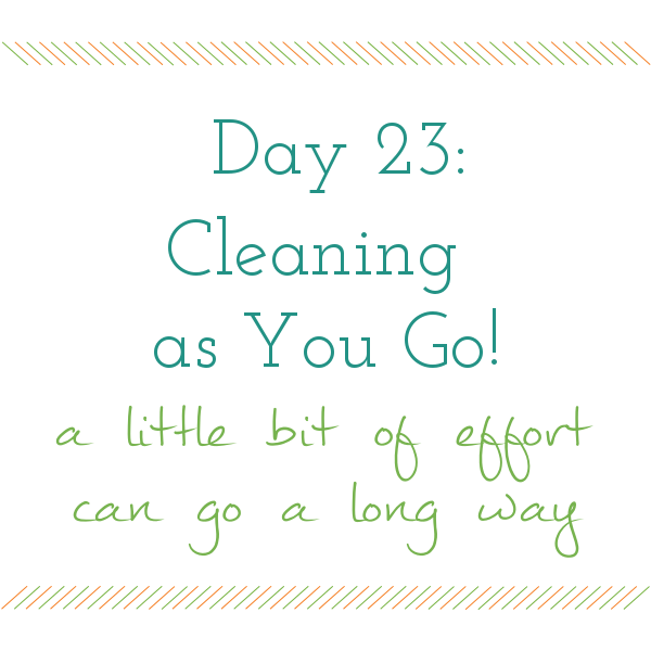 Day 23 of 31 days to a Clean and Organized Kitchen: ScatteredSquirrel.com