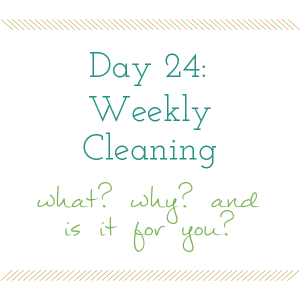Day 24 of the 31 Days to a Clean and Organized Kitchen Series on ScatteredSquirrel.com