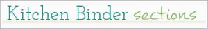 All section dividers for kitchen binder : ScatteredSquirrel.com