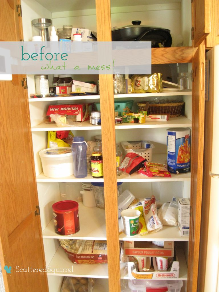 messy pantry from ScatteredSquirrel.com