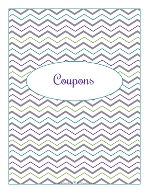 Coupon section divider for kitchen binder : ScatteredSquirrel.com