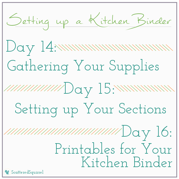 Days 14, 15, and 16 of 31 days to a Clean and Organized Kitchen: ScatteredSquirrel.com