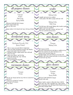 A printable of the homemade kitchen cleaners that I use. From ScatteredSquirrel.com