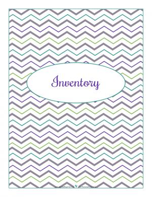 Inventory section divider for kitchen binder : ScatteredSquirrel.com