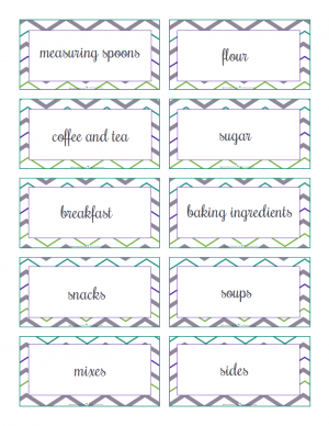 pre-filled kitchen labels: ScatteredSquirrel.com