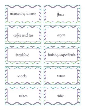 pre-filled kitchen labels: ScatteredSquirrel.com