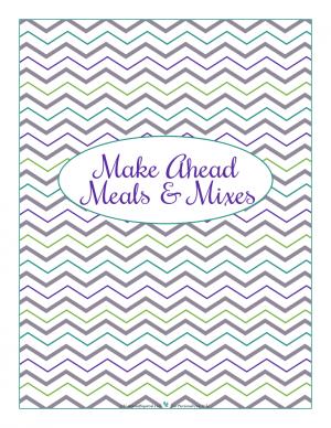 Make Ahead section divider for kitchen binder : ScatteredSquirrel.com