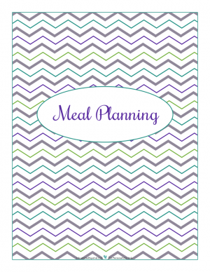 Meal Planning section divider for kitchen binder : ScatteredSquirrel.com