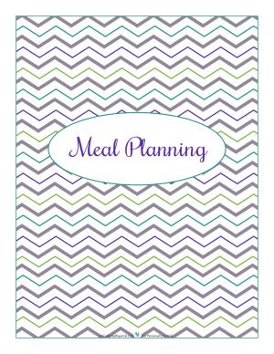 Meal Planning section divider for kitchen binder : ScatteredSquirrel.com