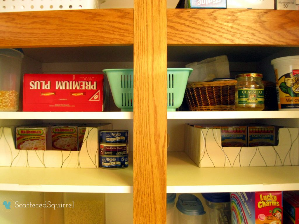 Pantry reorganized | scatteredsquirrel.com