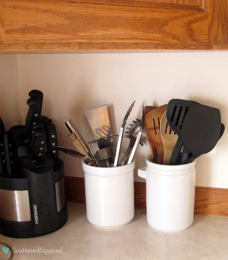 Cooking Utensils storage : ScatteredSquirrel.com