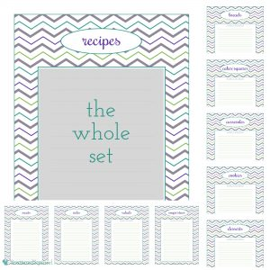Recipes section for a Kitchen Binder
