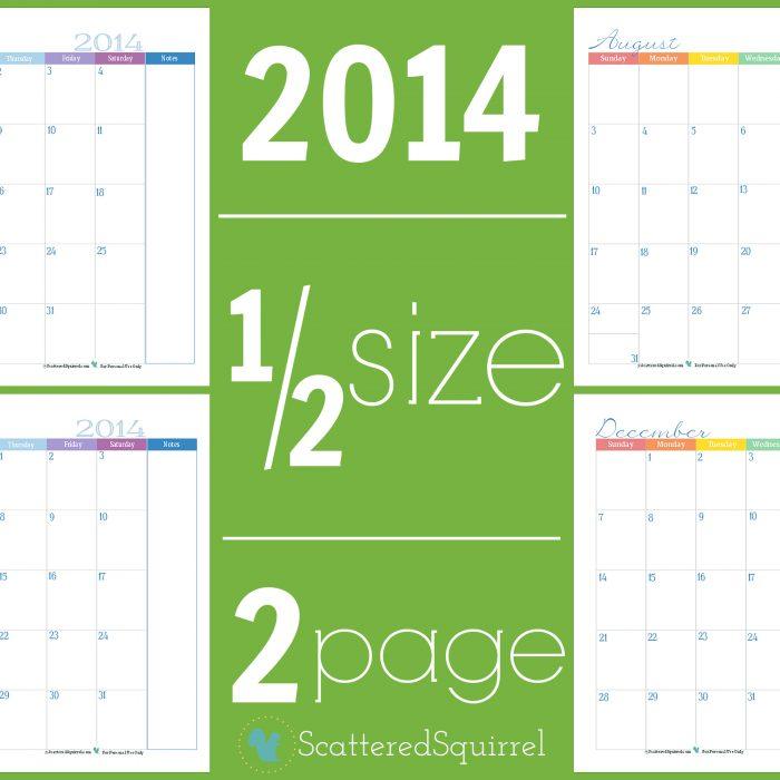 2014 Calendars: Part 3