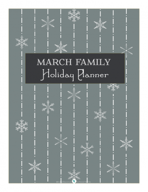 Holiday planner cover page, in foggy | ScatteredSquirrel.com