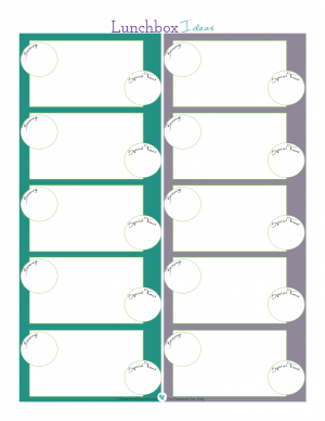 Free lunchbox ideas printable. | ScatteredSquirrel.com